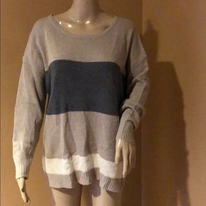 Joie Striped Scoop Neck Sweater Size  M Brand New